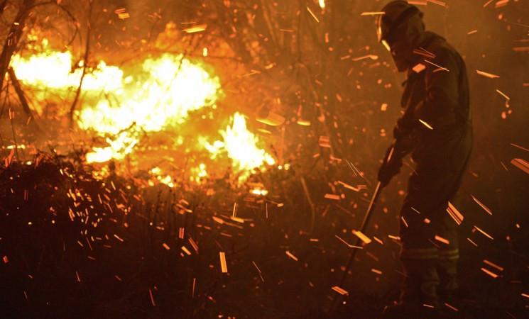 Incendiobomberoforestalllamas