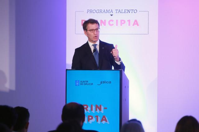 El presidente de la Xunta y el PPdeG, Alberto Núñez Feijóo, en un acto