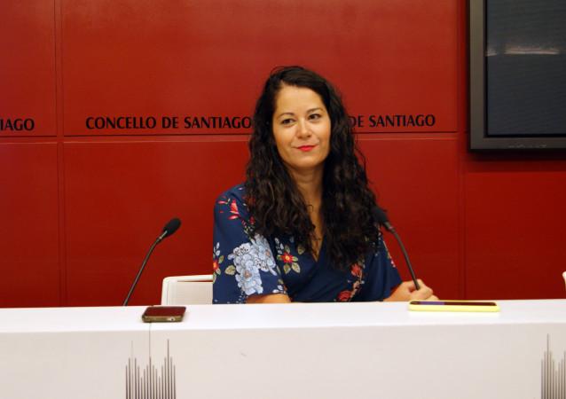 María Rozas en rueda de prensa
