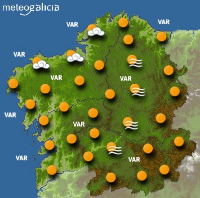 Predicciones meteorológicas para este viernes en Galicia: Cielo poco nublado y t