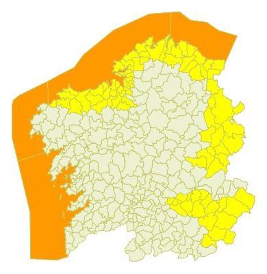Avisos meteorológicos en Galicia para el lunes 3 de octubre