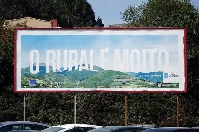 Imagen de una campaña publicitaria de la Xunta facilitada por el BNG.