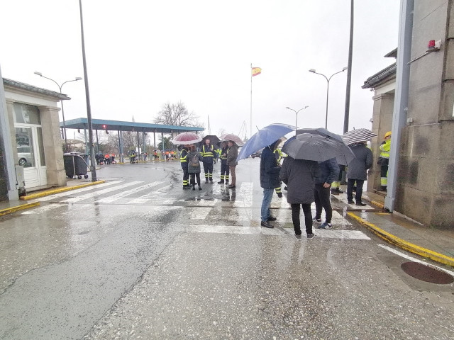 Concentración de trabajadores a las puertas de Navantia en Ferrol.