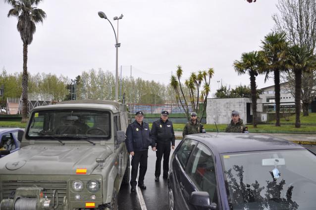 La BRILAT y la Policía Nacional en la jornada de despliegue del viernes en Vilagarcía de Arousa (Pontevedra)