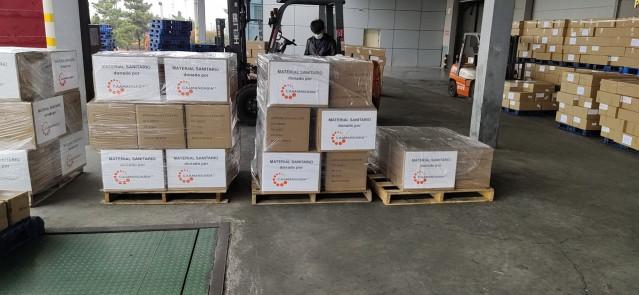 Mascarillas donadas a personal sanitario y fuerzas de seguridad por la empresa Caamaño Asia