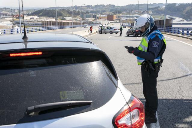Control policial en A Coruña
