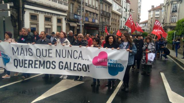 Manifestación de Queremos Galego por el 17 de Mayo