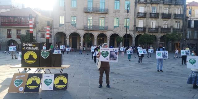 Protesta de la APDR en Pontevedra
