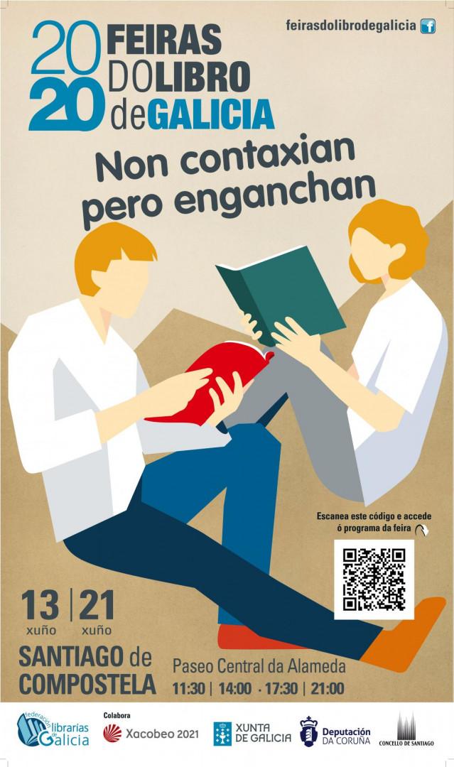 Cartel de la Feria del Libro de Santiago