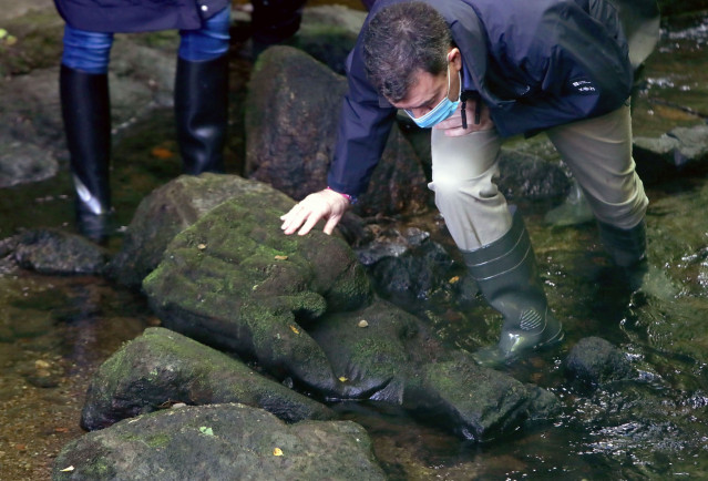 Fotos Xunta. Visita Supervisión Achado Arqueolóxico.