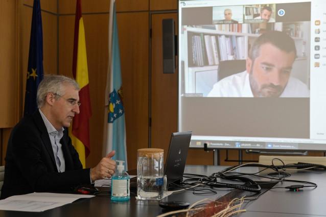 El conselleiro de Economía, Emprego e Industria, Francisco Conde, durante un 'webinario' dedicado a las claves para la recuperación económica.