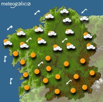 Predicciones para el miércoles 15 de julio en Galicia.