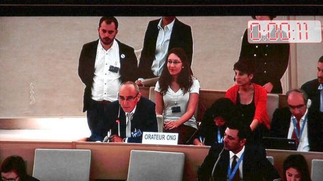 A Mesa participa en el 29º examen periódico universal del Consejo de Derechos Humanos de la ONU en Ginebra en una imagen de archivo de 2015