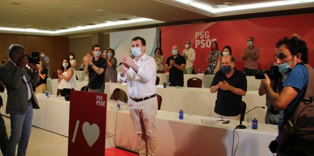 El secretario xeral de PSdeG, Gonzalo Caballero, interviene ante el Comité Nacional del partido