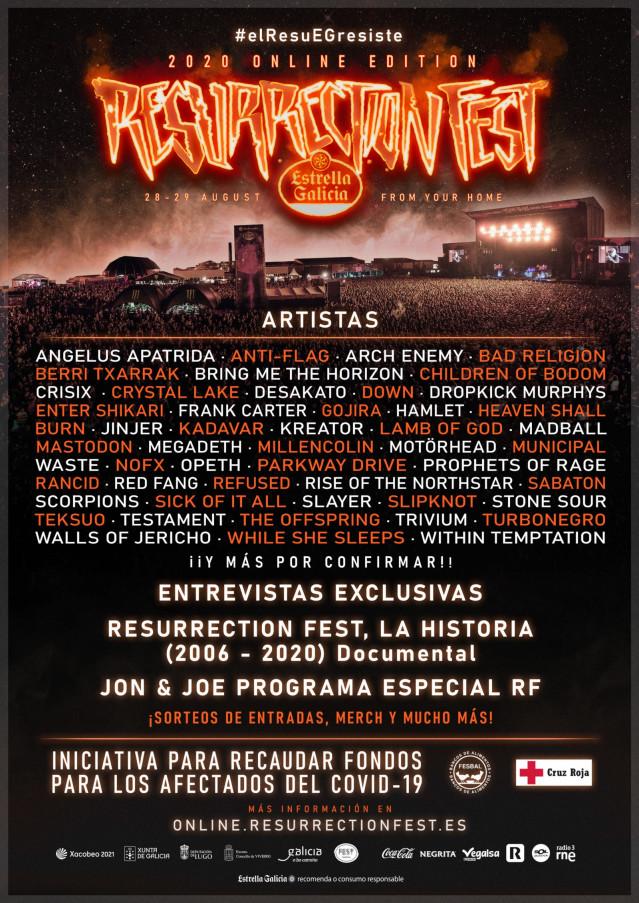 Cartel del Resurrection Fest Online