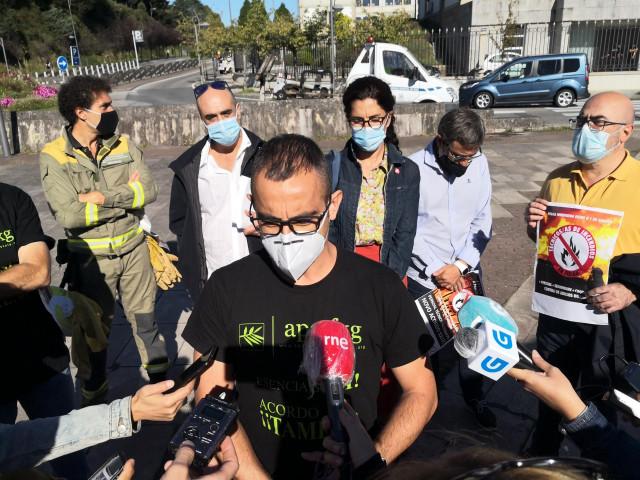 Protesta de personal técnico forestal de la Xunta
