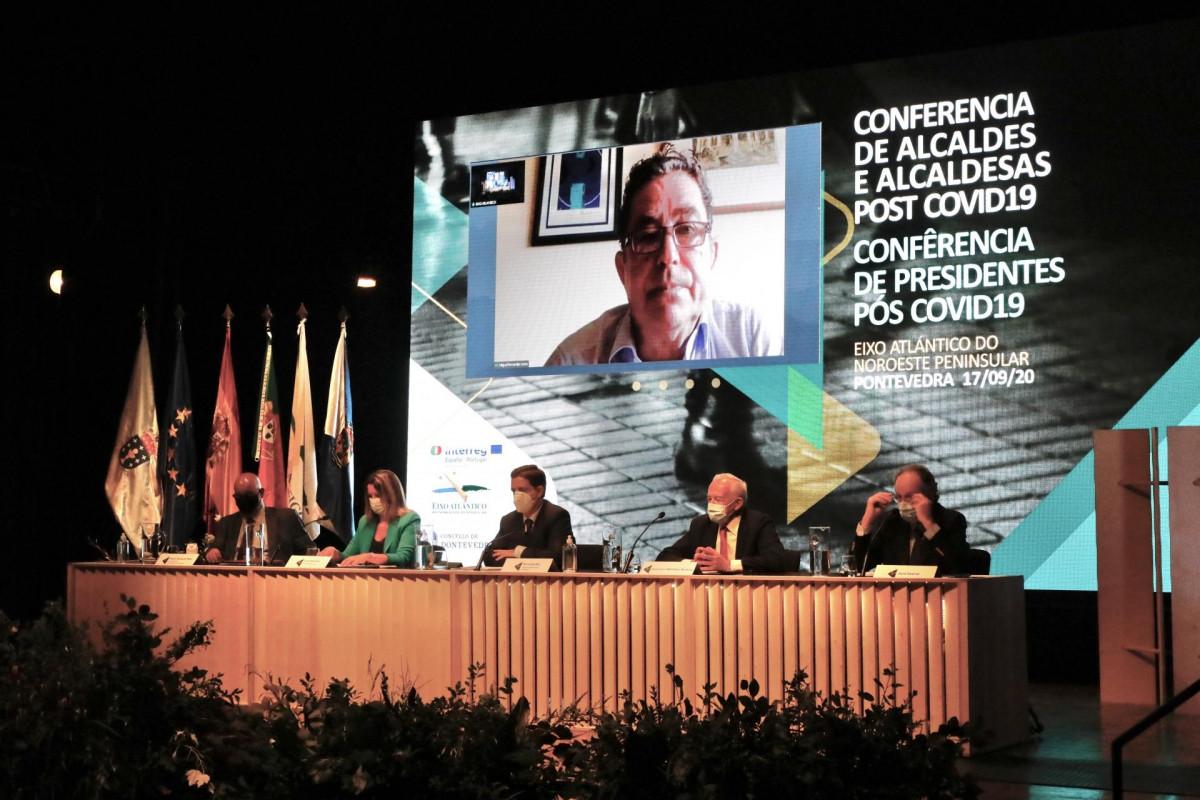 Reunión de alcaldes del Eixo Atlántico en Pontevedra.