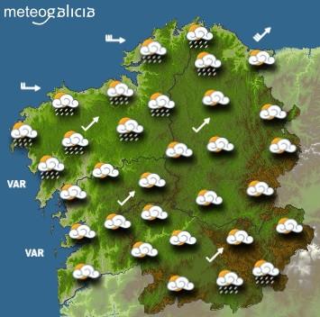 Predicciones para el jueves 24 de septiembre en Galicia.