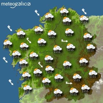 Predicciones para el viernes 2 de octubre en Galicia.