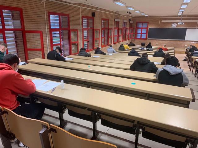 Una de las aulas que ha acogido el comienzo de los exámenes de enero en la UAL