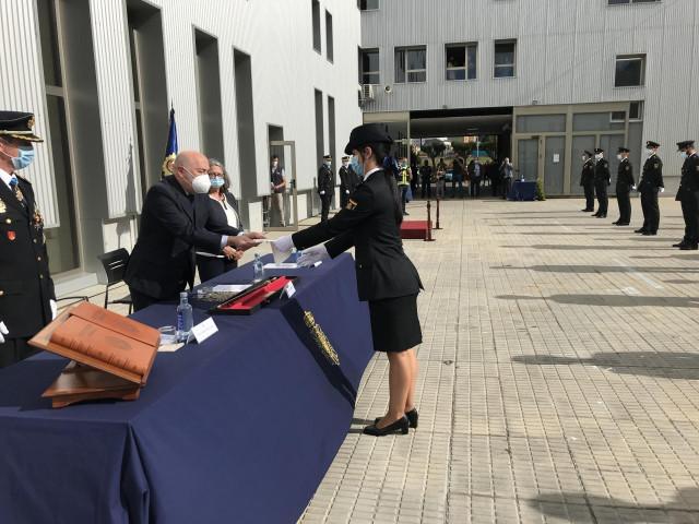 Aco de juramento de la 34º promoción de la Escala Básica de Policías Nacionales