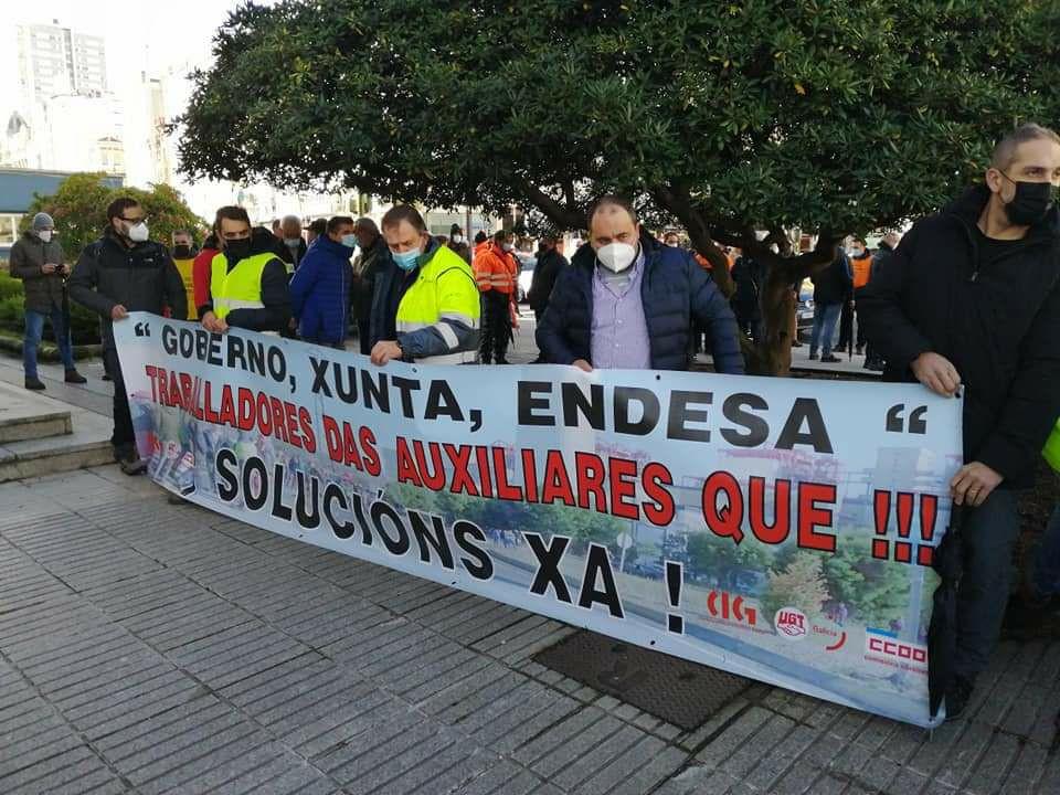 Protesta trabajadores endesa as prontes