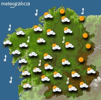 Predicciones para el miércoles 24 de febrero en Galicia.