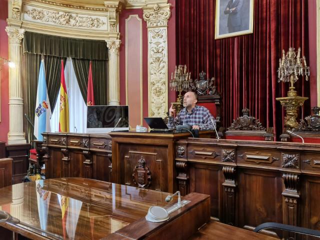 El alcalde de Ourense, Gonzalo Pérez Jácome, en rueda de prensa este mes de marzo