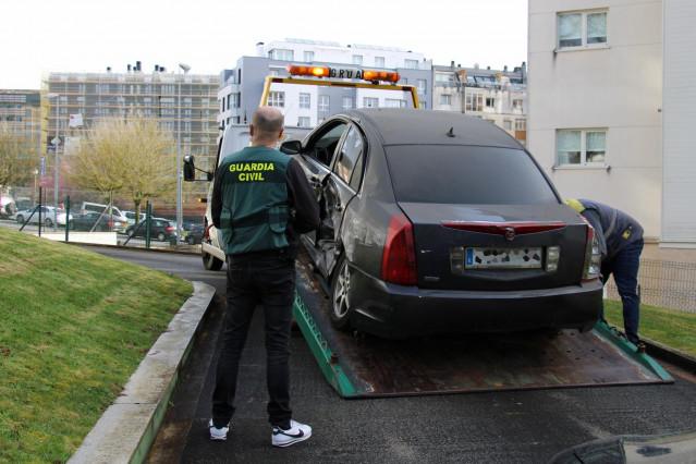 La Guardia Civil de Lugo decomisa vehículos de dos usuarios de riesgo multireincidentes.