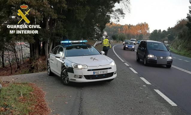 Imagen remitida por la Guardia Civil de Pontevedra