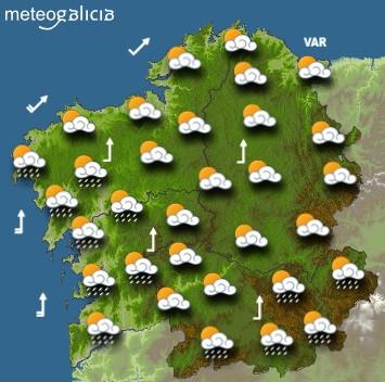 Predicciones para el viernes 9 de abril de 2021 en Galicia.