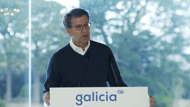 El presidente del PPdeG, Alberto Núñez Feijóo, ante la Junta Directiva del partido.