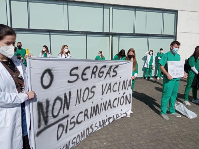 Protesta de alumnos de Odontología