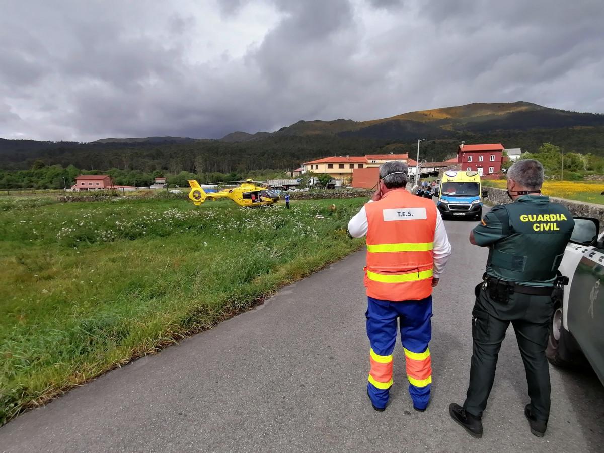 Imagen de la evacuacion en unha foto del twitter helico Santiago