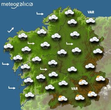 Predicciones para el miércoles 5 de mayo en Galicia.