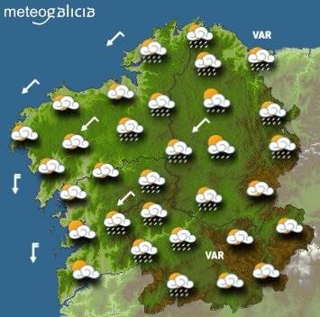 Predicciones meteorológicas para el miércoles