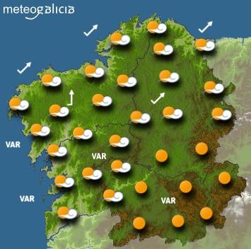 Predicciones para el viernes 15 de octubre en Galicia.